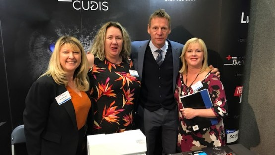 Former England International visits Exhibition Stand