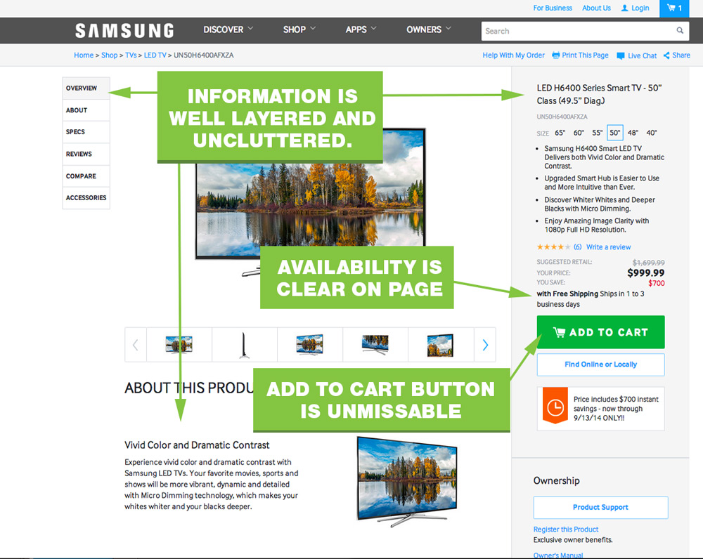 UX-Best-Practices-Samsung-Product-Page