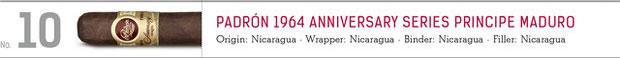 No. 10 Padron 1964 Anniversary Series Principe MAduro