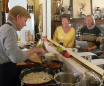 Expats pay for a variety of classes and activities, including cooking lessons.