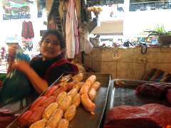 Anjeli at her meat counter.