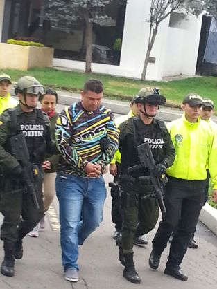 Colombian drug lord after his arrest on Monday.
