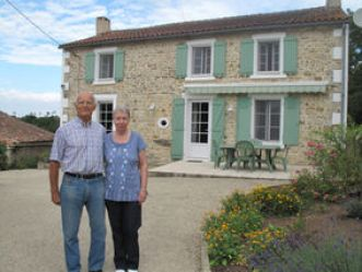 The author and his wife in France.