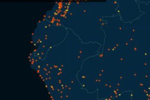 Map shows locattion in Ecuador of Ashley Madison members.