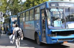 Buses are a main source of pollution.