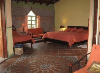 Superior kind accommodations at Madre Tierra.