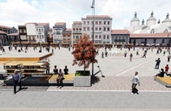 New San Francisco Plaza design, looking south to north.