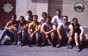 Componentes del grupo expedicionario Andes 2000