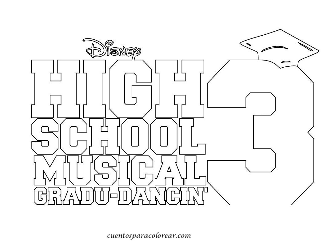 Dibujos Para Colorear High School