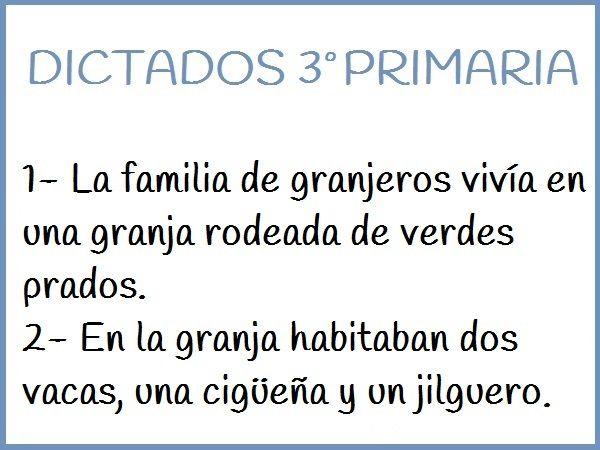 DICTADOS DE 3º DE PRIMARIA 2018 - Cuentos y Receas