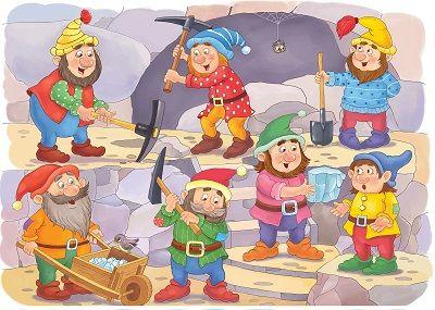 Los enanitos en la mina