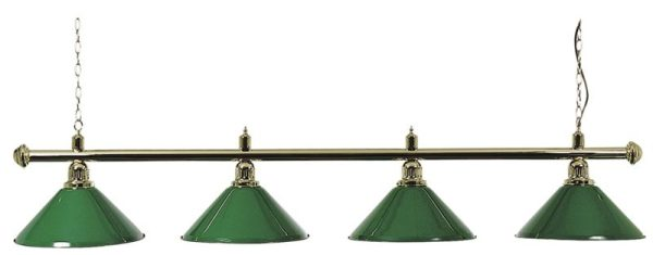Brass Bar With Four Green Shades