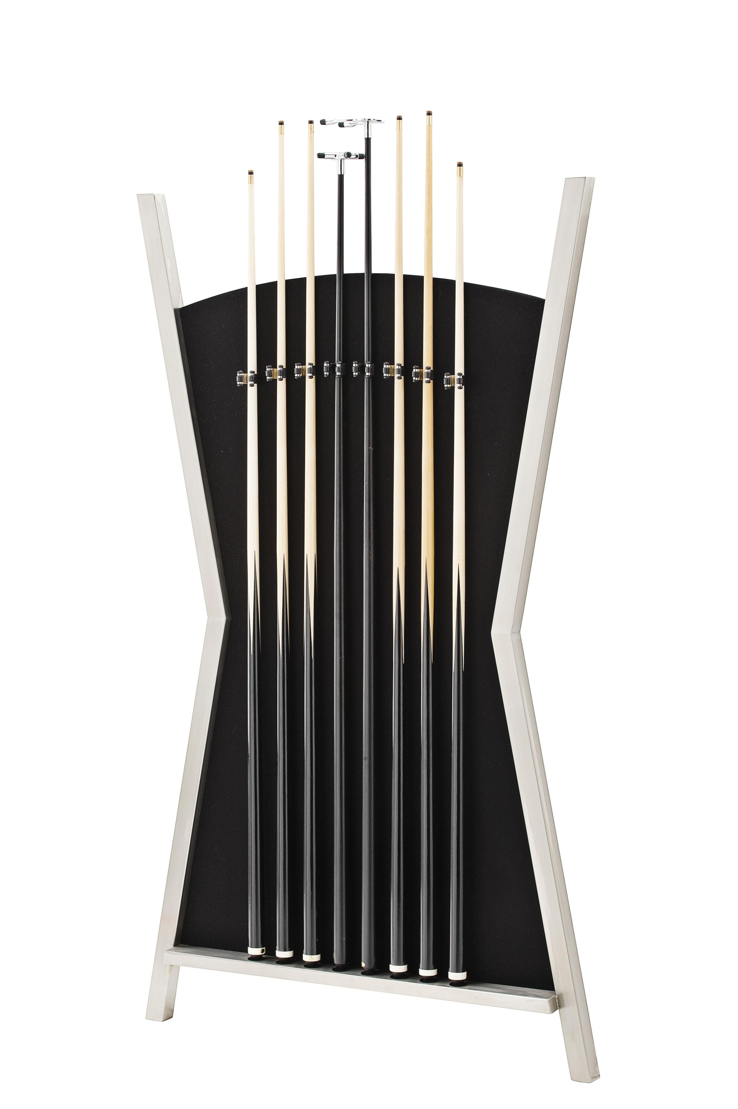 modern cue rack