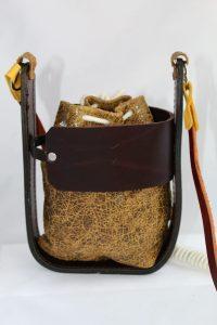 Bolso mini en piel hecho a mano en España