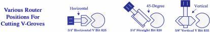 "Router Bit - Horizontal V-Bit 3/4""-199"