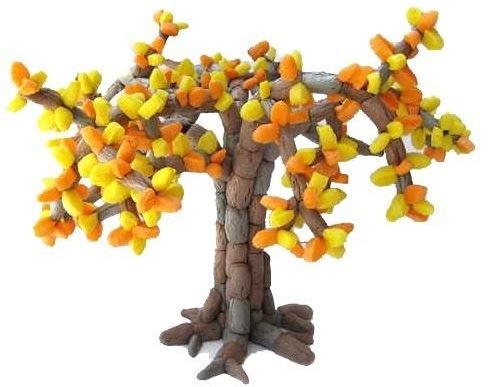 juegos primaverales. Construir un árbol