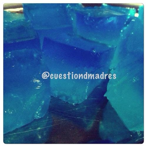 cubitos de hielo de gelatina