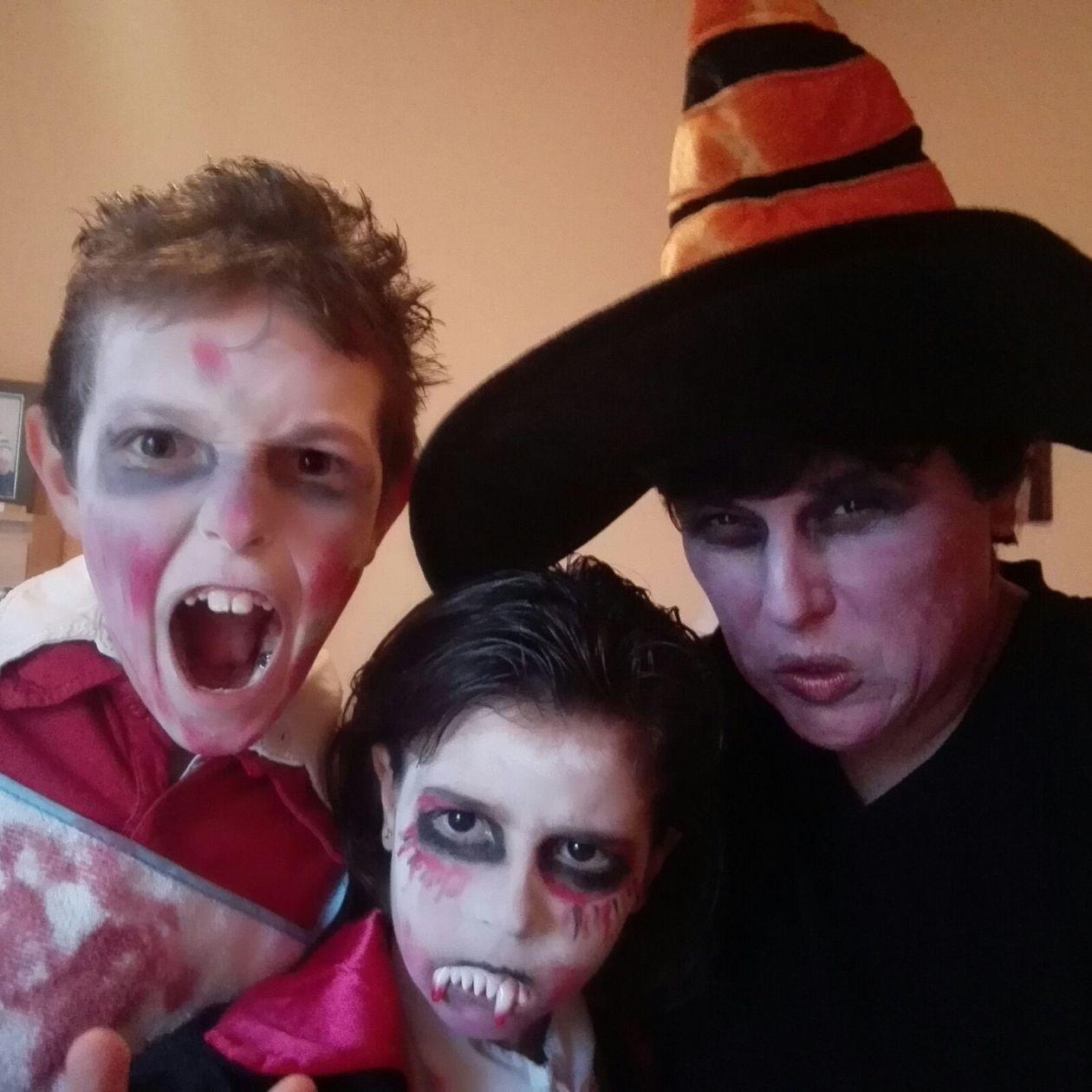 disfraz de Halloween, el maquillaje
