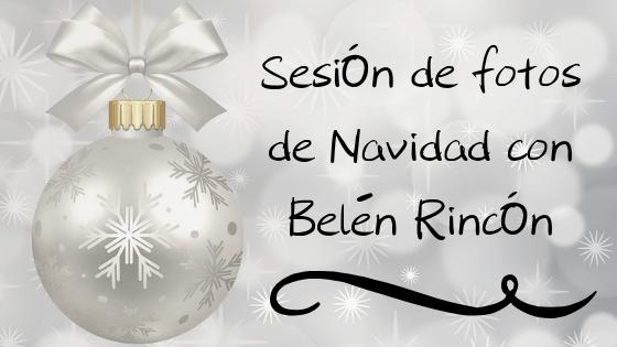 Sesión de fotos de Navidad con Belén Rincón