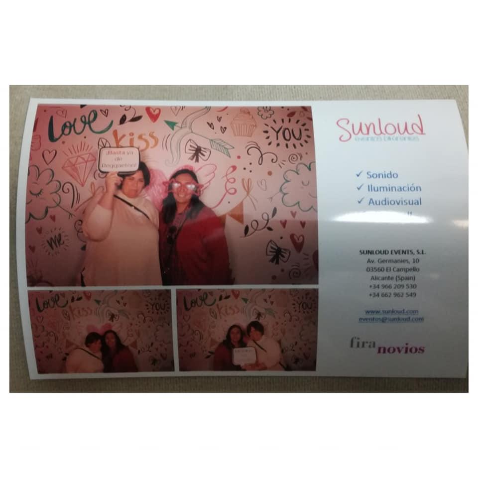 Una de las fotos imprimidas con el fotomatón Insta Max