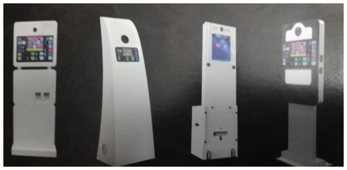 Distintas máquinas de fotomatón que nos ofrecen.