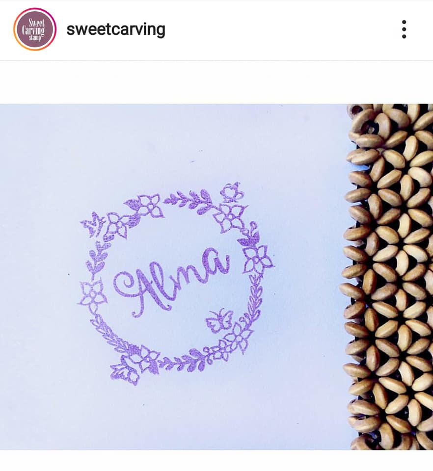 Sellos personalizados de Sweetcarving