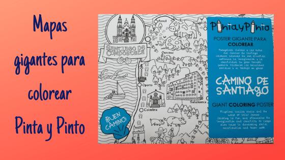 Mapas gigantes para colorear Pinta y Pinto