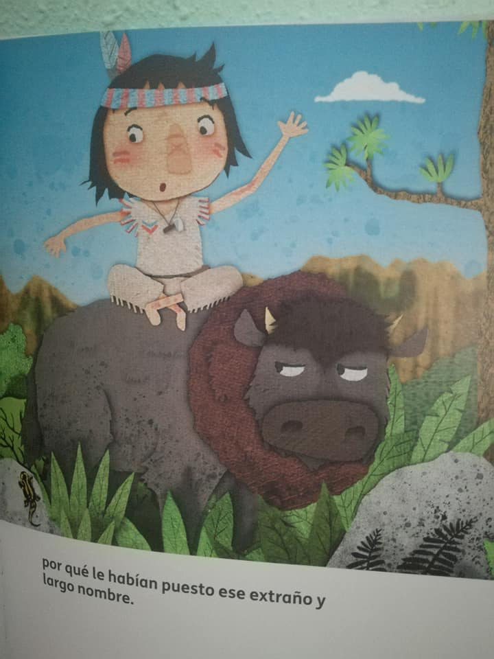 Siempre sentado en mal sitio sentado sobre un búfalo