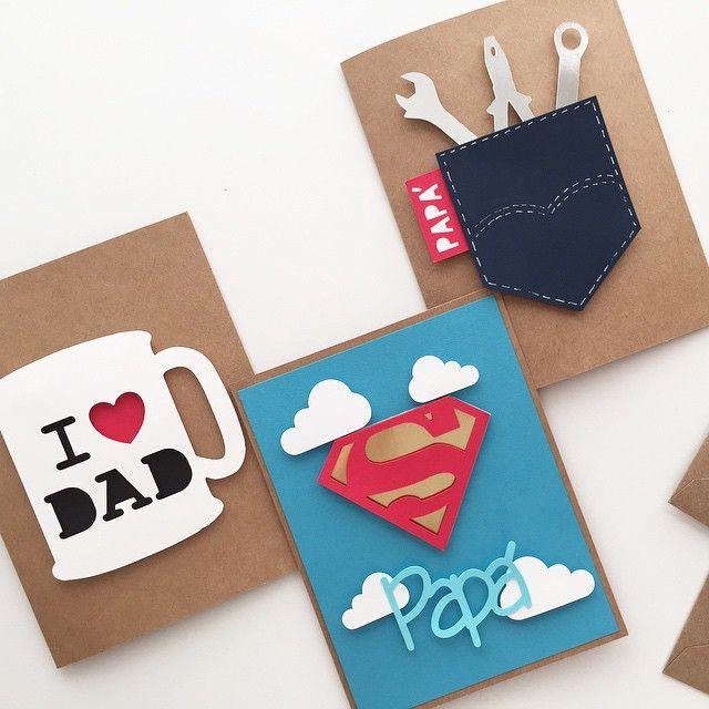 Algunos modelos de tarjetas de felicitación para los papás vistos en Pinterest