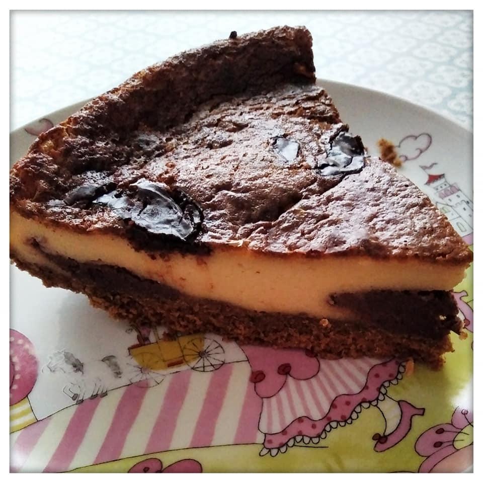 Imagen subida a nuestros Instagram de la tarta de queso, chocolate y vainilla