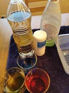 Materiales para el cuarto de los 4 experimentos sencillos. Hacemos un volcán