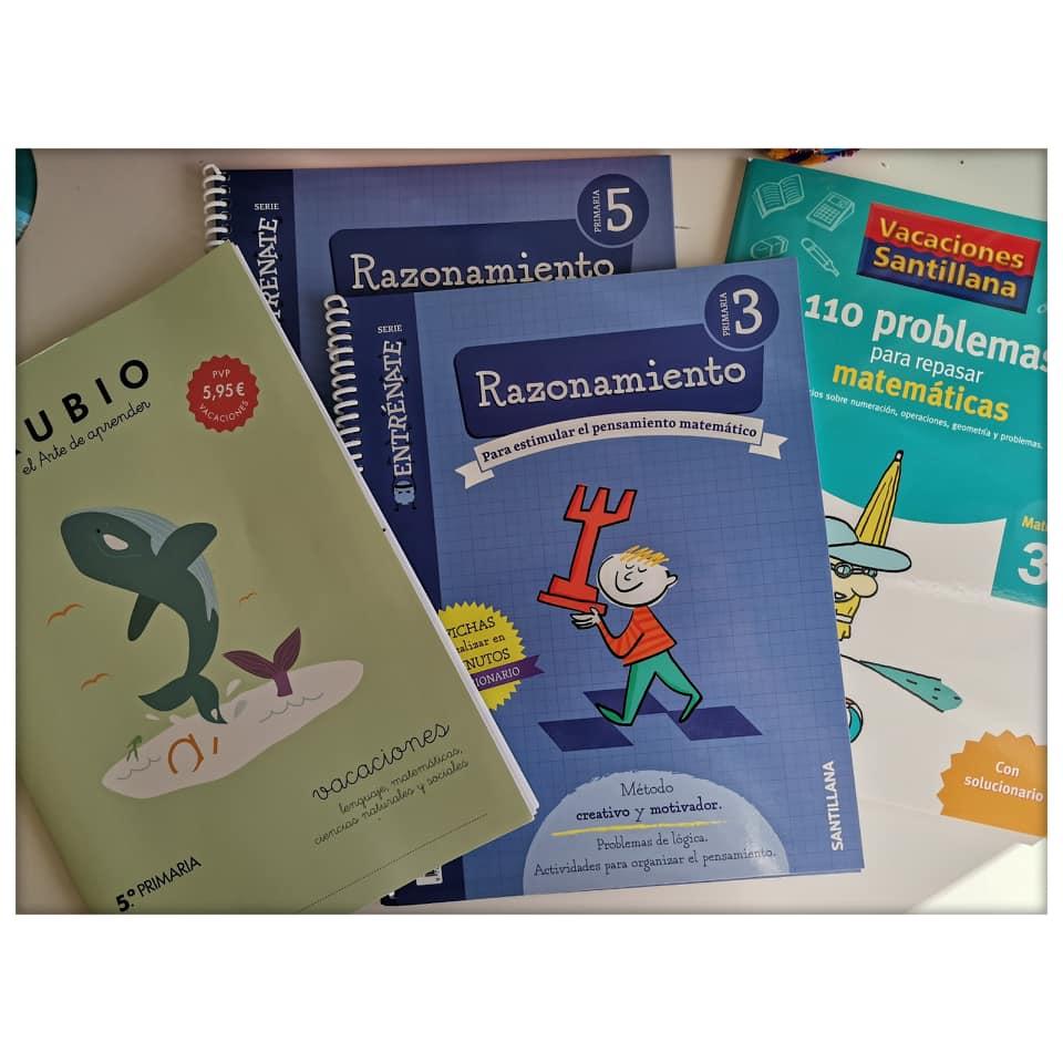 En nuestra organización para las vacaciones de verano no pueden faltar los cuadernillos de repaso. Este año centrados en el razonamiento matemático