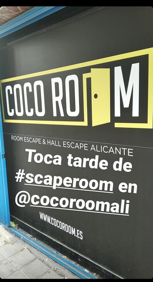 Fachada de Coco Room en Alicante