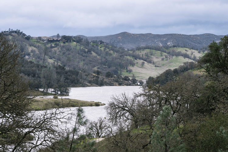 Santa Margarita Lake has seen increase in the water levels of the lake to over 100 percent and is filling up to levels not seen in years.