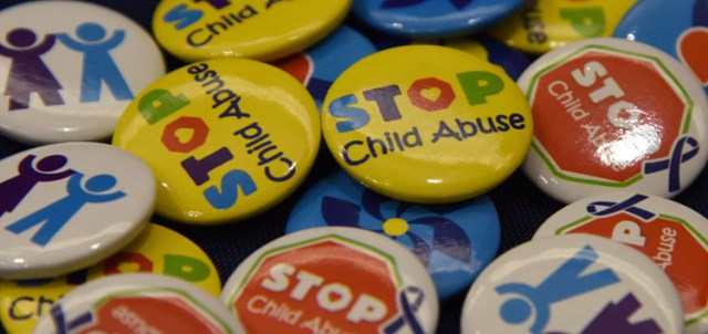 STOP Child Abuse pins