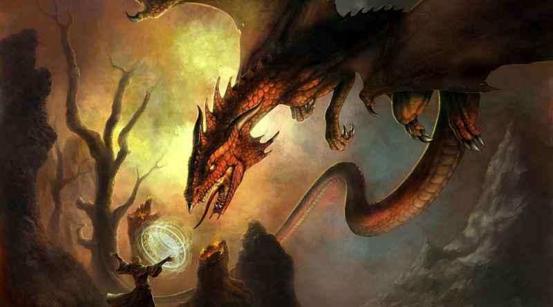 Dragón contra Hechicero