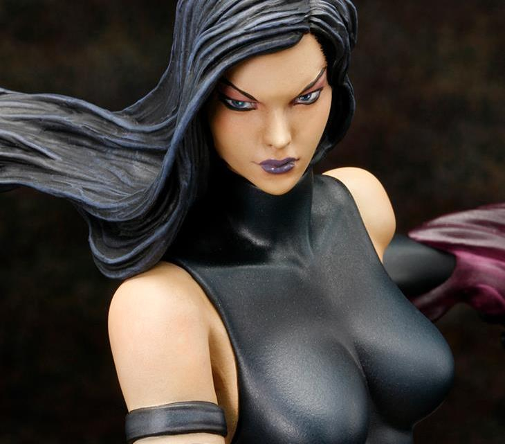 Psylocke Kotobukiya close up