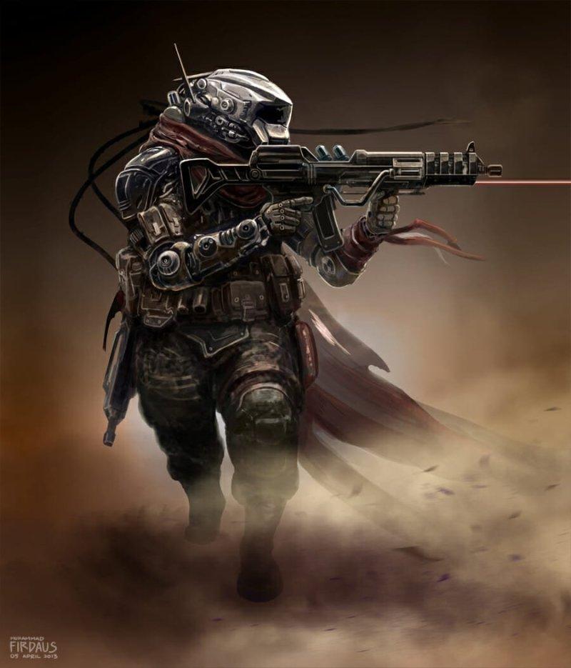 Lone Desert Wanderer por Freakyfir