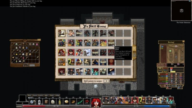 Dungeons of Dredmor Conquest of the Wizardlands Skills