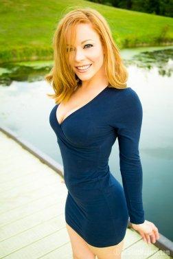 Scarlett Madison vestido azul