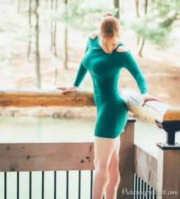 Scarlett Madison vestido verde
