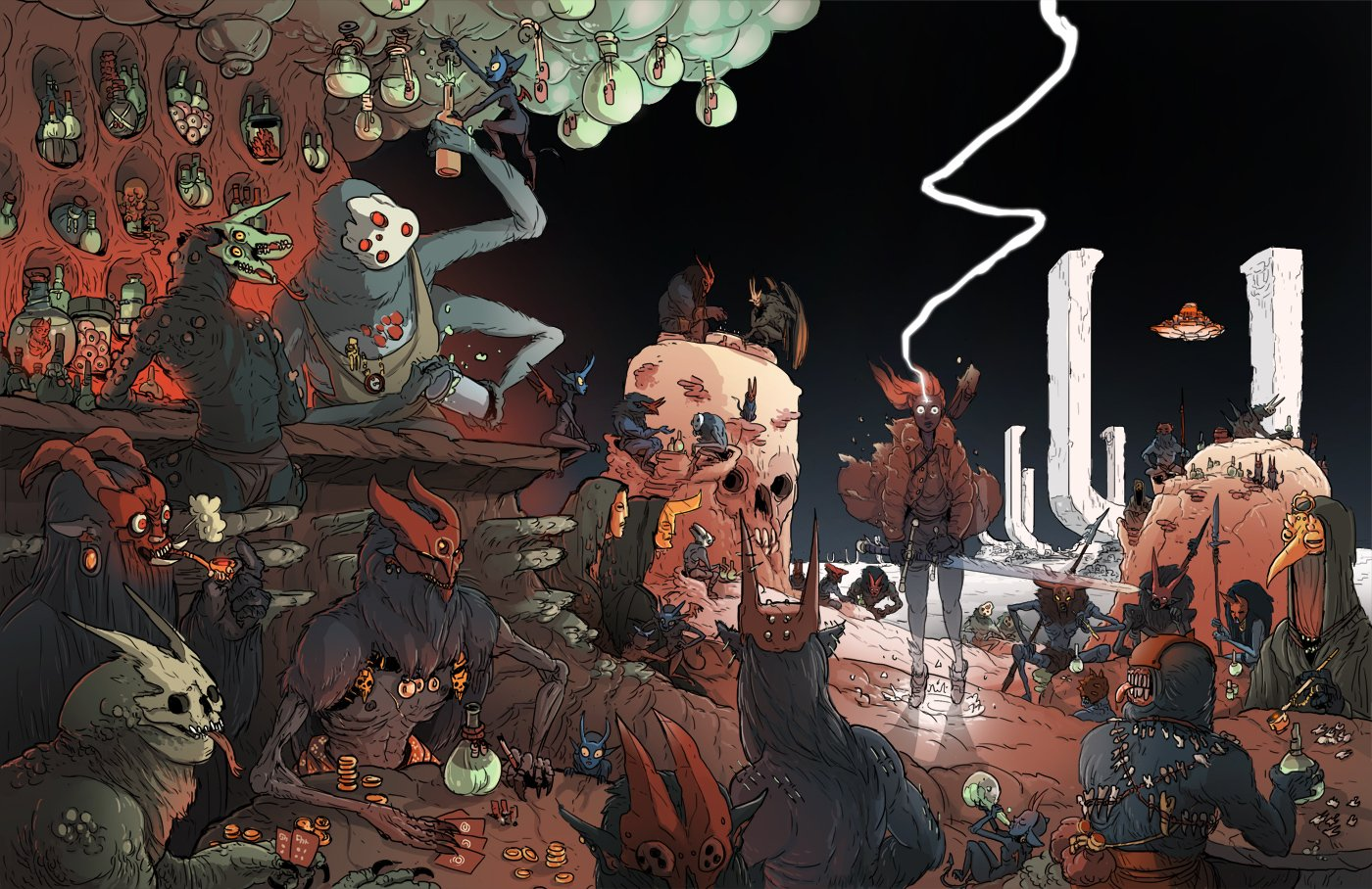 Kill 6 Billion Demons, Asombroso Webcomic