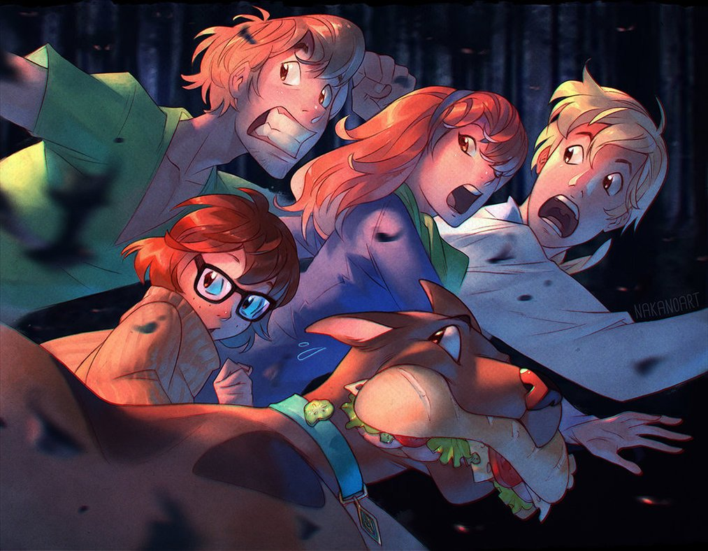 scooby_doo_and_the_crew_by_nakanoart-dama95t