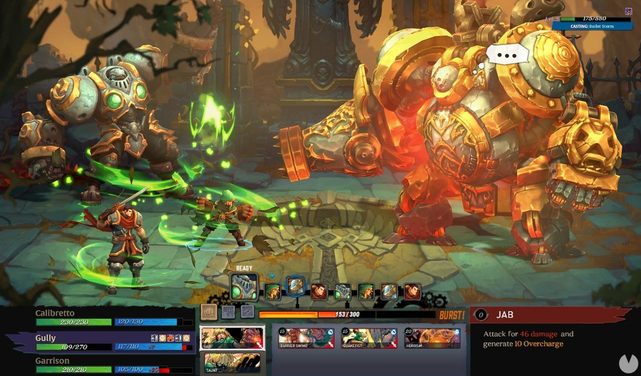 Battle Chasers Nightwar Combate