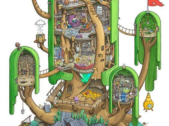 El Fuerte en el Árbol de Hora de Aventuras