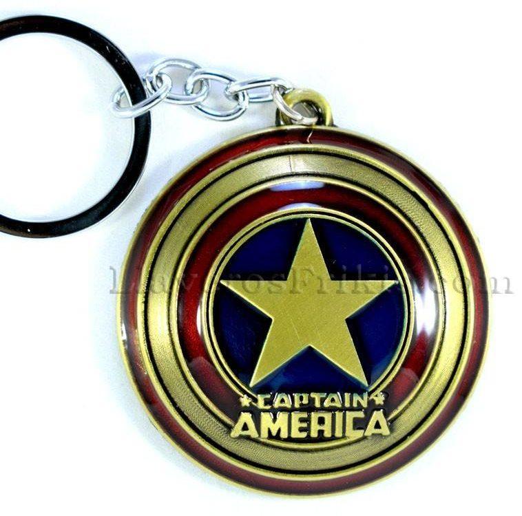 Llaveros de películas Escudo de Capitán América