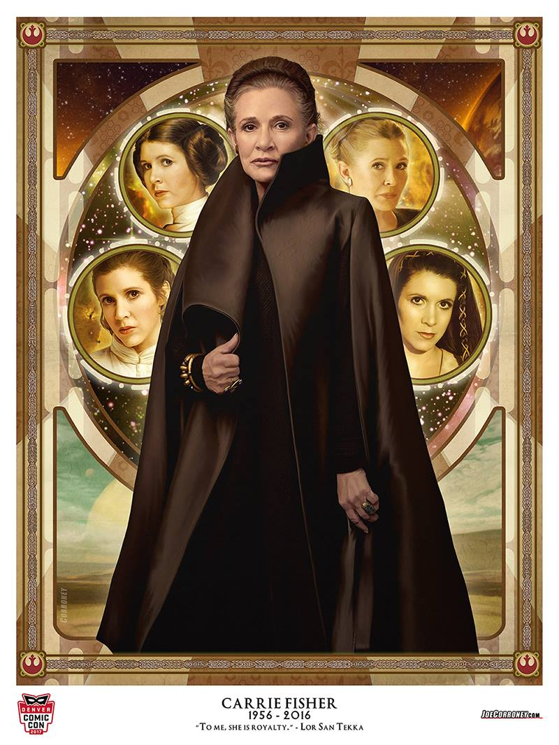 Star Wars The Last Jedi Leia Organa Carrie Fisher