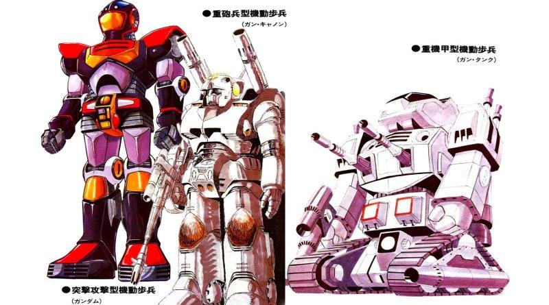 Evolución del diseño de Gundam