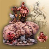 Miniaturas Scibor Enano sobre cabeza de gigante
