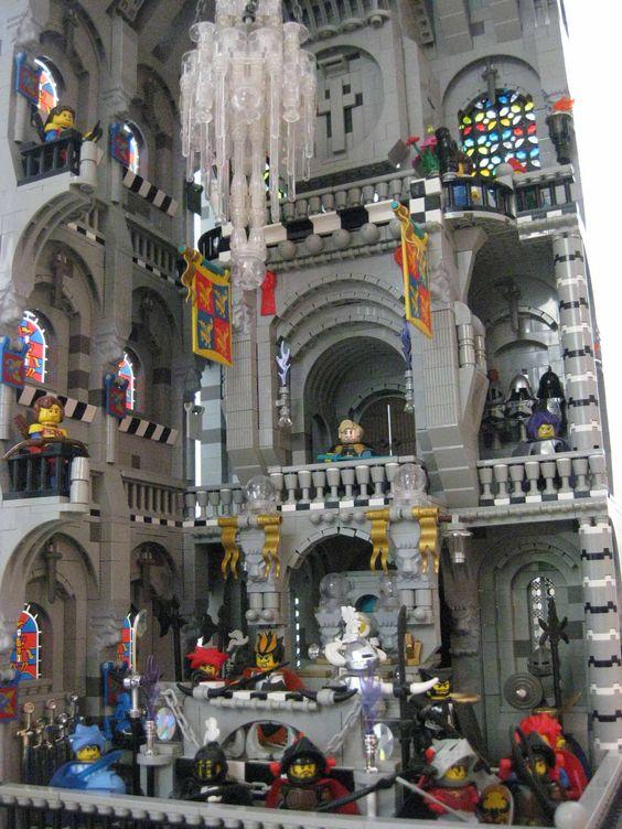 Espectacular interior de un castillo de LEGO